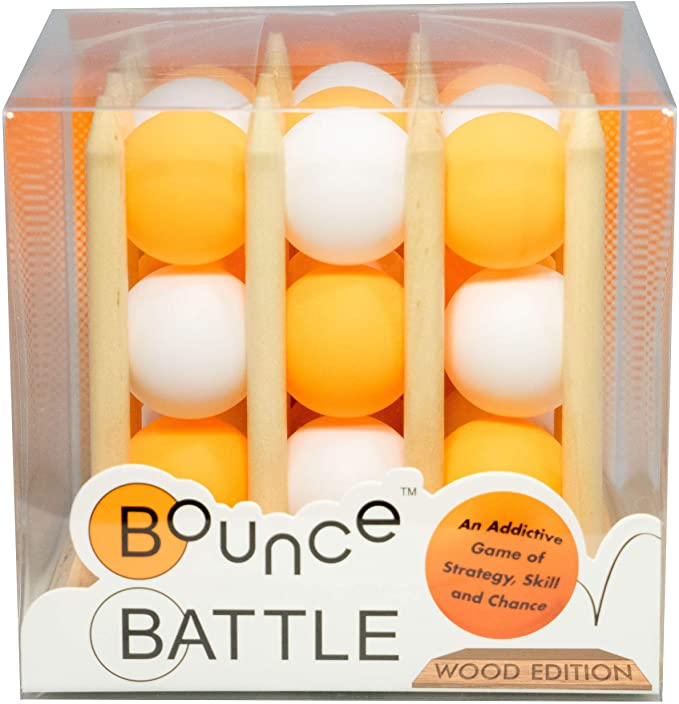 Bounce Battle Wood Edition Game Set - an Addictive Game of Strategy