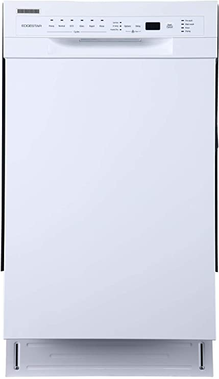 EdgeStar BIDW1802WH 18 Inch Wide 8 Place Setting Energy Star Rated Built-In Dishwasher
