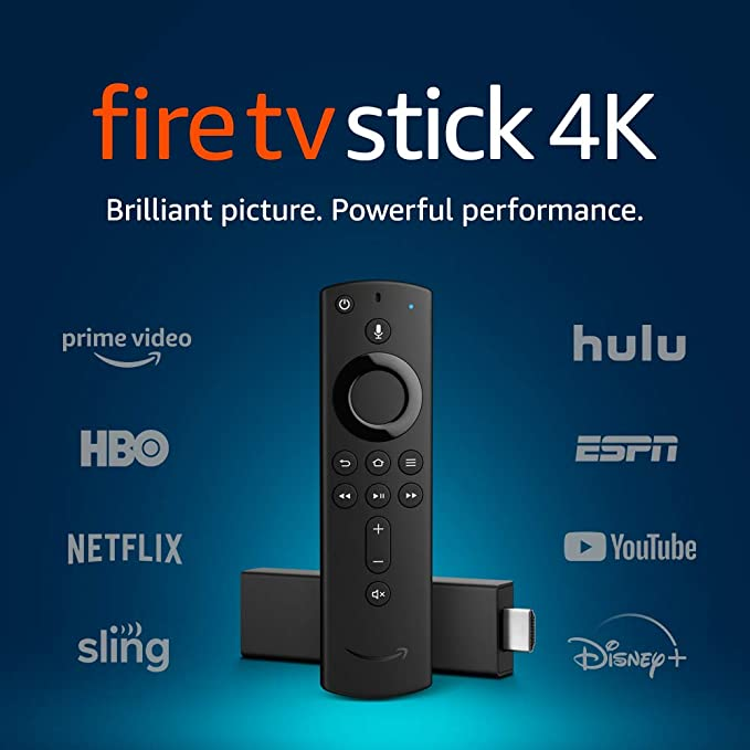 Fire TV Stick 4K streaming device with Alexa Voice Remote (includes TV controls)   Dolby Vision