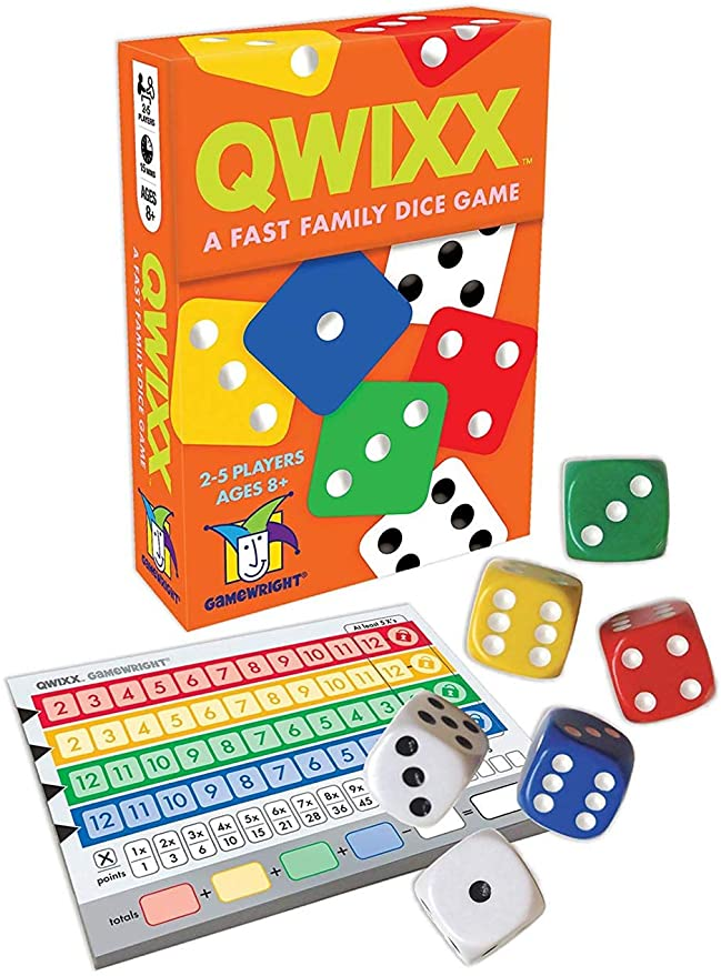 Gamewright Qwixx - A Fast Family Dice Game Multi-colored