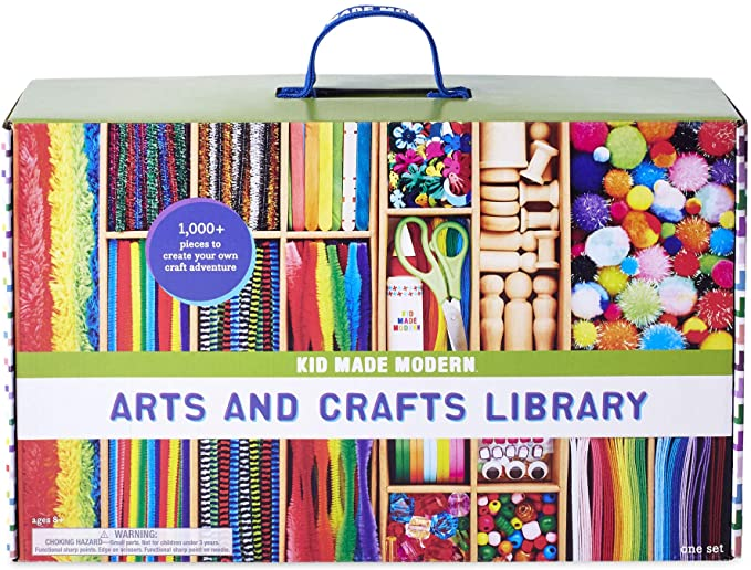 Kid Made Modern Arts and Crafts Supply Library - Coloring Arts and Crafts Kit