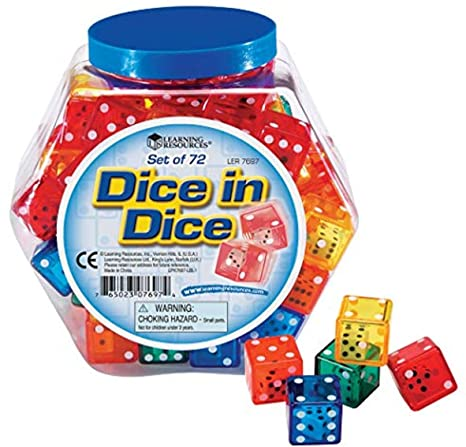 Learning Resources Dice In Dice Bucket