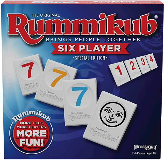 Rummikub Six Player Edition - The Classic Rummy Tile Game - More Tiles and More Players for More Fun! by Pressman