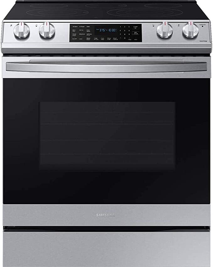 SAMSUNG NE63T8511SS 6.3 cu. ft. Front Control Slide-in Electric Range with Air Fry & Wi-Fi