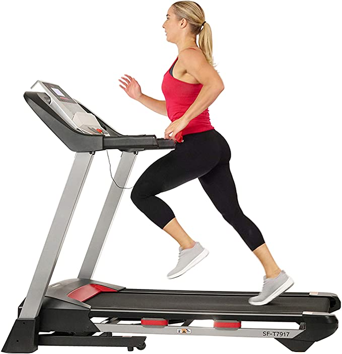 Sunny Health & Fitness Folding Treadmill for Home Exercise with 265 LB Capacity