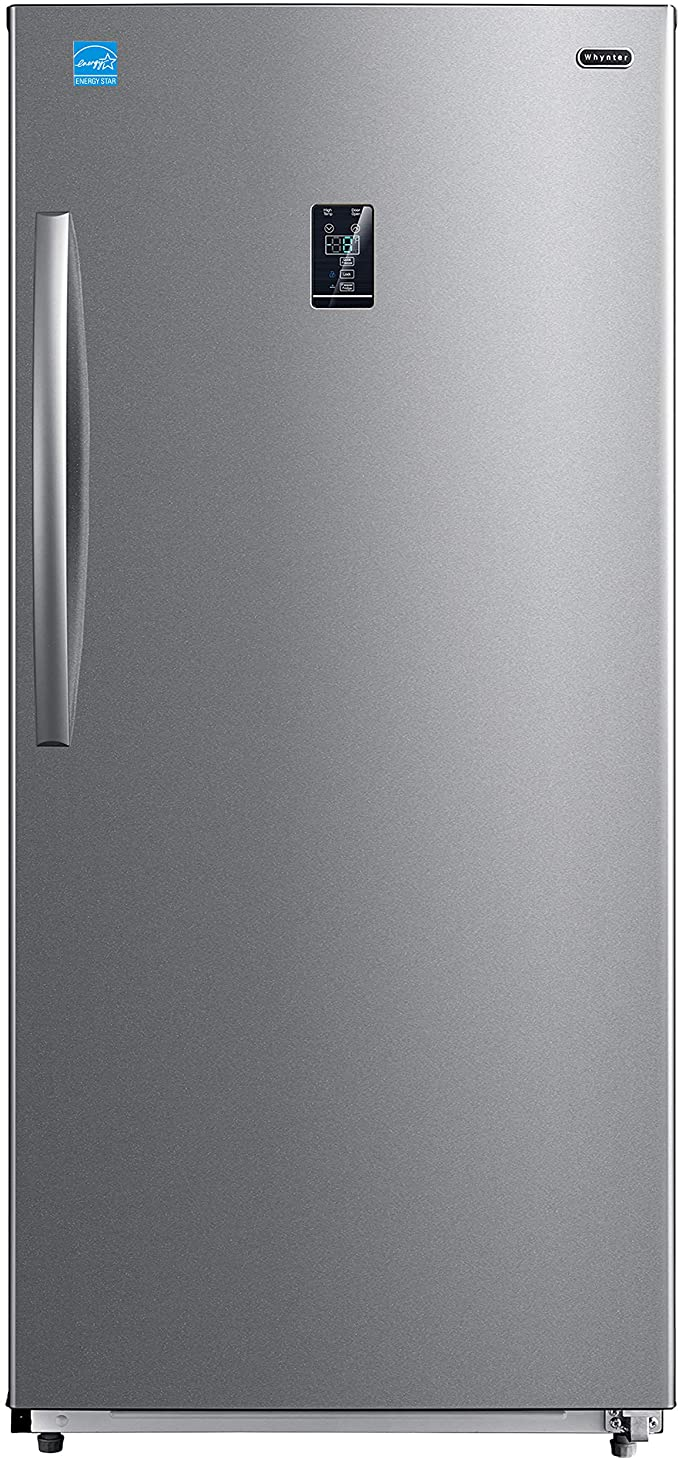 Whynter UDF-139SS 13.8 cu.ft. Energy Star Digital Upright Convertible Deep Stainless Steel Freezer/Refrigerator